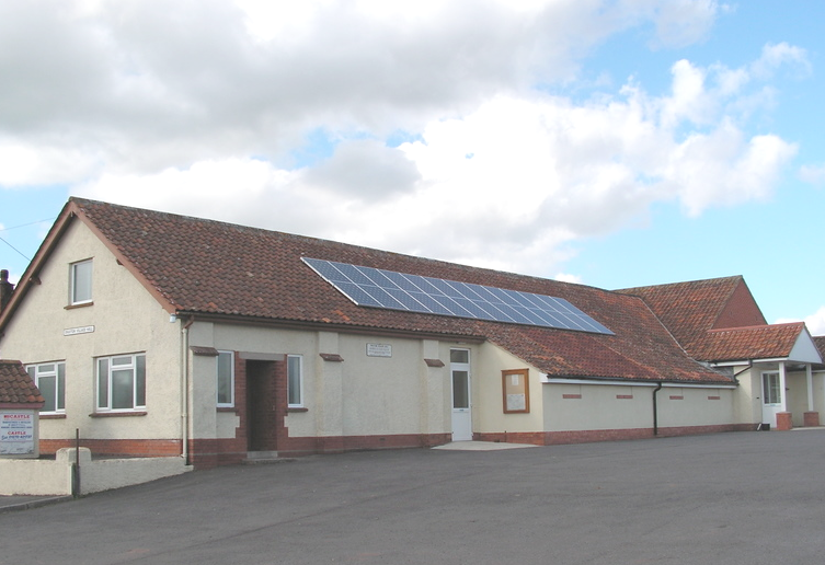Spaxton Parish Council meet at the Village Hall (shown)
